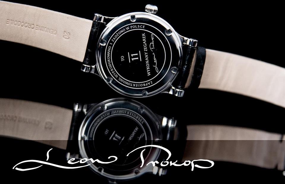 """cee5d45796a5b8 Zgodnie ze słowami właściciela firmy Leon Prokop producent pragnie, by """"w  zegarkach sygnowanych logiem Leon Prokop użytkownik dostrzegł detale, ..."""