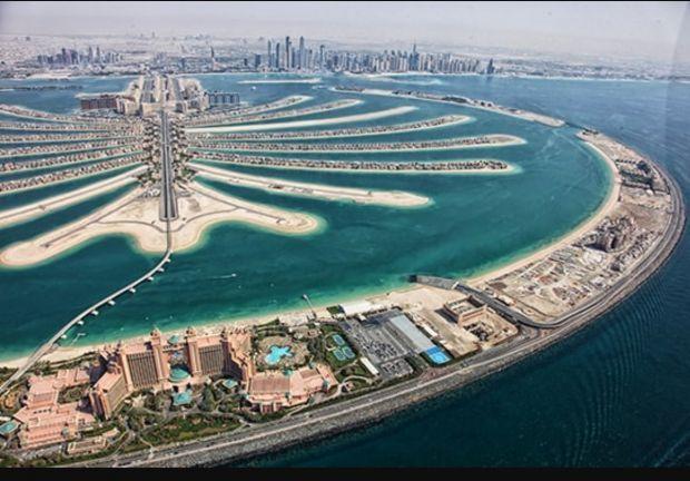 Jumeirah wyspa palma w Dubaju